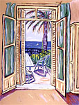 Jeffrey Hessing signed lithograph View from the Chateau Lanapoule
