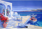 Andre Savy signed lithograph Naxos